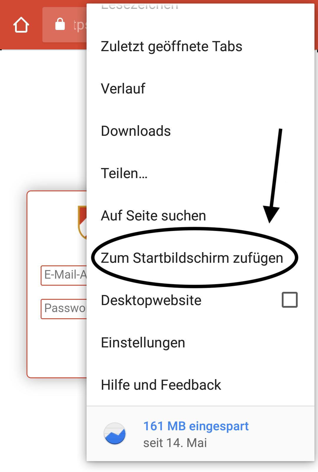 Android Installation - 2. Schritt